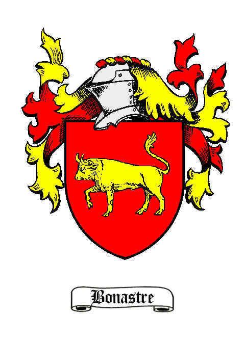 The blazon of a Valencian lineage of Bonastre surname, native to Catalonia. It is possible that these arms were semi-speaking, because in Catalan bull is called bou